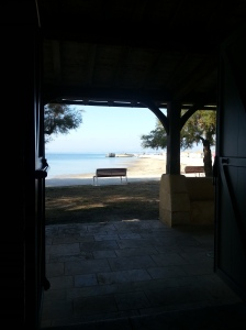 View from the church doors