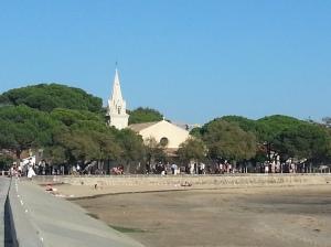 Church from bay