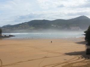 Mundaka Beach upon my arrival