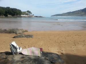 Mundaka beach and rug