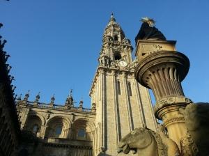 The Fuente de los Cabellos fountain at a cathedral side entrance