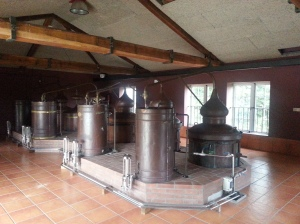 The copper vats now replaced by stainless steel