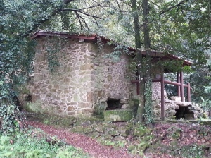 'Molino' in Spanish, 'Muiño' in Galician.