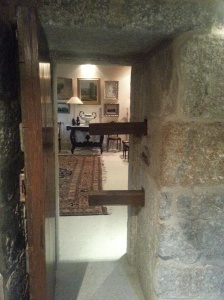 Thick walls and reinforced door to the safe room.