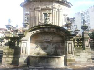 The chapel's fountain