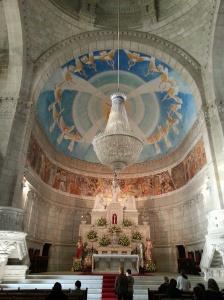 Inside the beautiful sanctuary