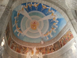 The pretty frescoes over the altar