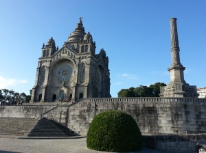 Santa Luzia Sanctuary is at an altitude of about 220 metres
