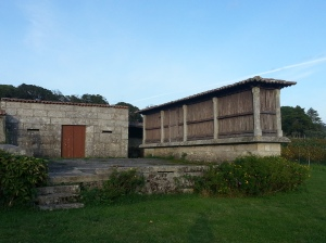 The traditional horreo grain store