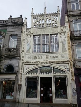 The neo-gothic façade
