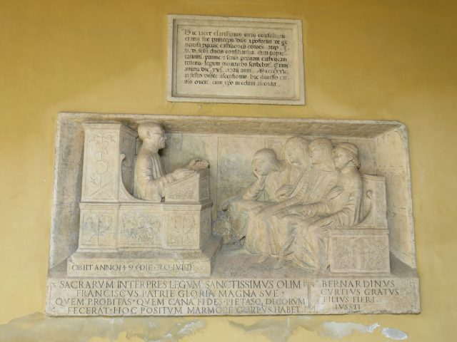 Pavia university plaque