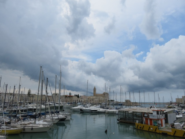 Clouds over Trani harbour