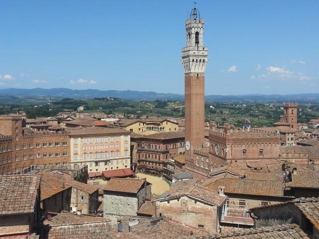 Piazza del Campo seen from the Panorama del Facciatone